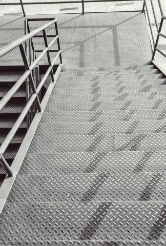 metal stair surface